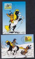 Schweiz Suisse 2012: Yakari, Der Kleine Indianer (Derib) Zu 1449-50 Mi 2227-28 Auf PTT-Maximum-Karten (Zu CHF 6.50) - American Indians