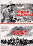 Dossier De Presse Cinéma. Affichette Paramount Pour Affichage. L'odyssée Du Dr Wassel - Les Tuniques Rouges. - Cinema Advertisement