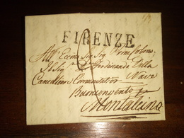 Prefilatelica Da Firenze A Montalcino 4 Febbraio1832 - Italië