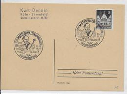 BRD - 1950 - OBLITERATION TEMPORAIRE (SONDERSTEMPEL) : MUSIQUE / VIOLON - CARTE De MITTENWALD - Lettres & Documents