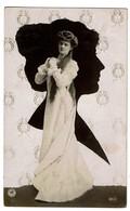 Art Nouveau - Photo Montage Femme Sur Silhouette - Edit. N.P.G. 601/4 - 1910 -  2 Scans - Silhouettes
