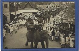 CPA SIAM Thaïlande Bangkok écrite Carte Photo RPPC éléphant RAMA VII - Thailand