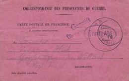 Carte Franchise Prisonniers De Guerre Kriegsgefangenensendung Avis De Capture Utilisé - Marcophilie (Lettres)