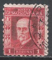 Czechoslovakia 1926. Scott #106 (U) President Masaryk * - Tchécoslovaquie