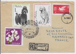 POLOGNE - 1965 - OBLITERATION ILLUSTREE (SONDERSTEMPEL) - ENVELOPPE RECOMMANDEE De WROCLAW => FRANCE - 1944-.... Republic