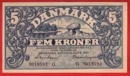 BILLET - DANEMARK - 5 Kroner  De 1942  Lettre G - Pick 30 - Danemark