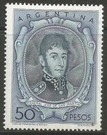 Argentina - 1956 San Martin 50p MNH *   Sc 642 - Argentina