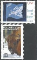 Conseil De L'Europe Et Forêt Bialowieza 2005 - N° 131 Et 132 Neufs ** - Service