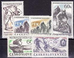 ** Tchécoslovaquie 1957 Mi 1013-7+1034 (Yv 900-4+919), (MNH) - Unused Stamps