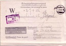 Cartes Lettre De Prisonniers Stalag IV A Arbeit Kommando 421 Pour Tours 1945 - Marcophilie (Lettres)