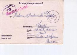 Cartes Lettre De Prisonniers Stalag IV A  Pour Tours 1941 - Marcophilie (Lettres)