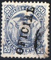 ECUADOR, OFFICIAL STAMPS, STEMMI, COAT OF ARMS, 1886, FRANCOBOLLO USATO YT S5    Scott O5  (1,75) - Ecuador