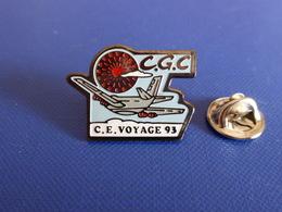 Pin's CGC CE Voyage 93 - Comité D'entreprise - Avion (Q57) - Airplanes