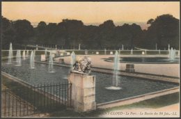 Le Bassin De 24 Jets, Le Parc, Saint-Cloud, 1917 - Lévy CPA LL16 - Saint Cloud