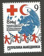 MK 2017-ZZ1 RED CROSS, MACEDONIA MAKEDONIJA, 1 X 1v, MNH - Macédoine