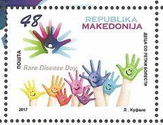 MK 2017-19 Children With Rare Diseases , MACEDONIA MAKEDONIJA, 1 X 1v, MNH - Macédoine