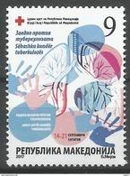 MK 2017-ZZ3 RED CROSS AGAINST TBC, MAKEDONIA, 1 X 1v, MNH - Macedonië
