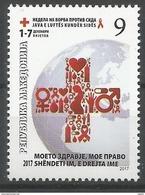 MK 2017-ZZ1 RED CROSS AGAINST AIDS, MAKEDONIA, 1 X 1v, MNH - Macedonië