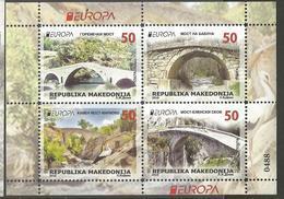 MK 2018-09 EUROPA CEPT, MACEDONIA, BLATT, MNH - Macédoine