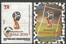 MK 2018-11 FIFA CUP RUSSIA-2018, MACEDONIA, 1 X 2v, MNH - Macédoine