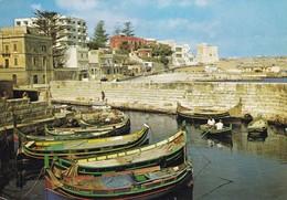 Postcard Malta St Paul's Bay Fishing Harbour Ans St Paul's Tower My Ref  B23024 - Malta