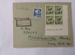 ZOF/FBZ/Rheinland-Pfalz  LR Bad Kreuznach  1948( Coin Daté /Eckrand Mit Druckdatum) - Zona Francese