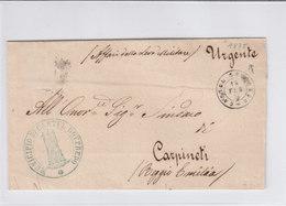 Italy Italia 1875 Official Letter MUNICIPIO DI CASTEL GOFFREDO Mantua To CARPINETI Reggio Emilia (q206) - Servizi