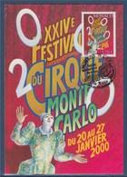 = Festival International Du Cirque XXIVè Monaco 1er Jour Le 13.12.99 N°2225 Carte Postale Clown Jongleur - Cartoline Maximum