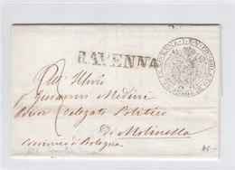 Italy Italia Toscana Tuscany 1856 Official Letter CONSOLATO DI TOSCANA In RAVENNA To Molinella BOLOGNA (q207) - Toscana