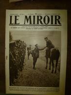 1918 LE MIROIRLes Canadiens à Quéant;Armentières,Douai,Cambrai,Neuve-Eglise;Nos Soldats De Mangin;Fonck;etc - Tijdschriften & Kranten