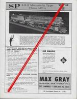 Catalogue MAX GRAY Supplement Sheet Feb 1962 KTM HO SP 4-8-2 MOUNTAIN MT-4 - Customer Service Bulletin - Books And Magazines