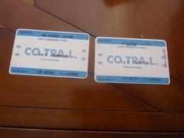 2 BILLETS LINE URBANE DI ROMA CO.TRA.L. 26/12/1996  B I G  GIORNALIERO - Bus