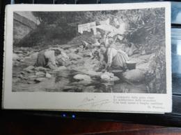 18688) ITALIA LOCALITA' DA IDENTIFICARE FORSE CARNIA LAVANDAIE VIAGGIATA 1913 - Cartoline