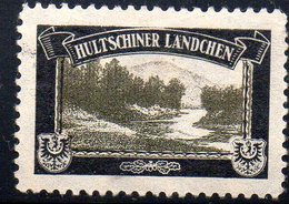 GERMANY EMPIRE 1920-22 LOST TERRITORIES MOURNING LABEL 1ST PRINTING WITH WATERMARK - HULTSCHINER LANDCHEN - Other