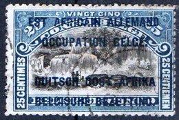 GERMANIA, RUANDA URUNDI, FRANCOBOLLI DEL CONGO BELGA SOVRASTAMPATI, 1916, FRANCOBOLLO USATO YT 31    Mi. OC4 - Colonia: Africa Orientale