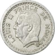 Monnaie, Monaco, Louis II, 2 Francs, 1943, Poissy, TTB, Aluminium - Monaco
