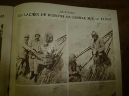 1918 LE MIROIR :Lacher De Pigeons-de-guerre;Labo Armée Belge;Nos Zouaves;Les AMEX;Les Sculptures De Crépy-en-Valois;etc - Revues & Journaux