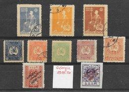 Géorgie N°4, 5, 6, 8, 9, 16 à 18, 45, 46 (10 Tp) 1919-22 *, (*) & O - Géorgie