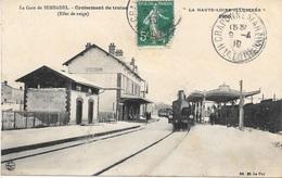 43 - Hte Loire Illustrée - SEMBADEL - La Gare - Croisement De Trains - Effets De Neige - Circulé 1910 - M B Le Puy - - Otros Municipios