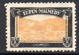 GERMANY EMPIRE 1920-22 LOST TERRITORIES COLONIES MOURNING LABEL 1ST PRINTING NHM WITH WATERMARK - EUPEN-MALMEDY - Other