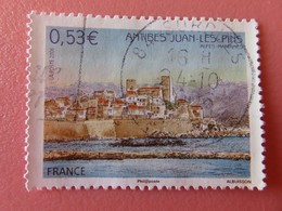 Timbre France YT 3940 - Série Touristique - Antibes Juan Les Pins - Vue Du Vieil Antibes - 2006 - Usados
