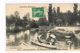 CPA (73) Aix-les-Bains. Le Petit Port. Lac Du Bourget. Barque.Animation.(B.964) - Aix Les Bains