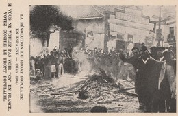 LA REVOLUTION DU FRONT POPULAIRE EN ESPAGNE - MARS 1936 -SACCAGE D'UNE MAISON ET INCENDIE DU MOBILIER FG DE MADRID- 3 SC - Evènements