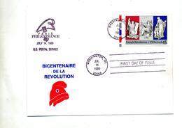 Lettre Fdc Revolution France Philexfrance Us Postal - Ersttagsbelege (FDC)