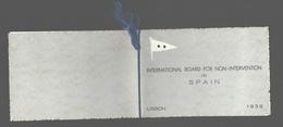 Guerra Civil Española / Espana Civil War - International Board Non-intervention Spain - Lisbon 1938 - Lisboa Belem Tower - Andere Oorlogen