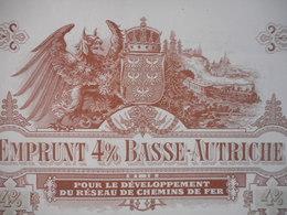 BASSE AUTRICHE 4% 1911 Reseau De Chemins De Fer AUSTRIA WIEN - Chemin De Fer & Tramway