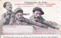Carte De Franchise L'autographe Du Poliu - Marcophilie (Lettres)