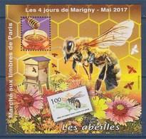 = Bloc Gommé Carré Marigny N°29 Les 4 Jours De Mai 2017 Marché Aux Timbres Paris Les Abeilles Dentelé 1146 - CNEP