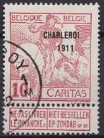 Belgie  .   OBP   .     106      .         O   .   Gebruikt  .   /    .   Oblitéré - 1910-1911 Caritas