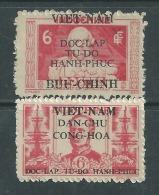 Viêt-Nam Du Nord N° 13 + 15 XX  Timbres D'Indochine Surchargés : Les 2 Vals Sans Char., Dentelure Habituelle Sinon TB - Viêt-Nam